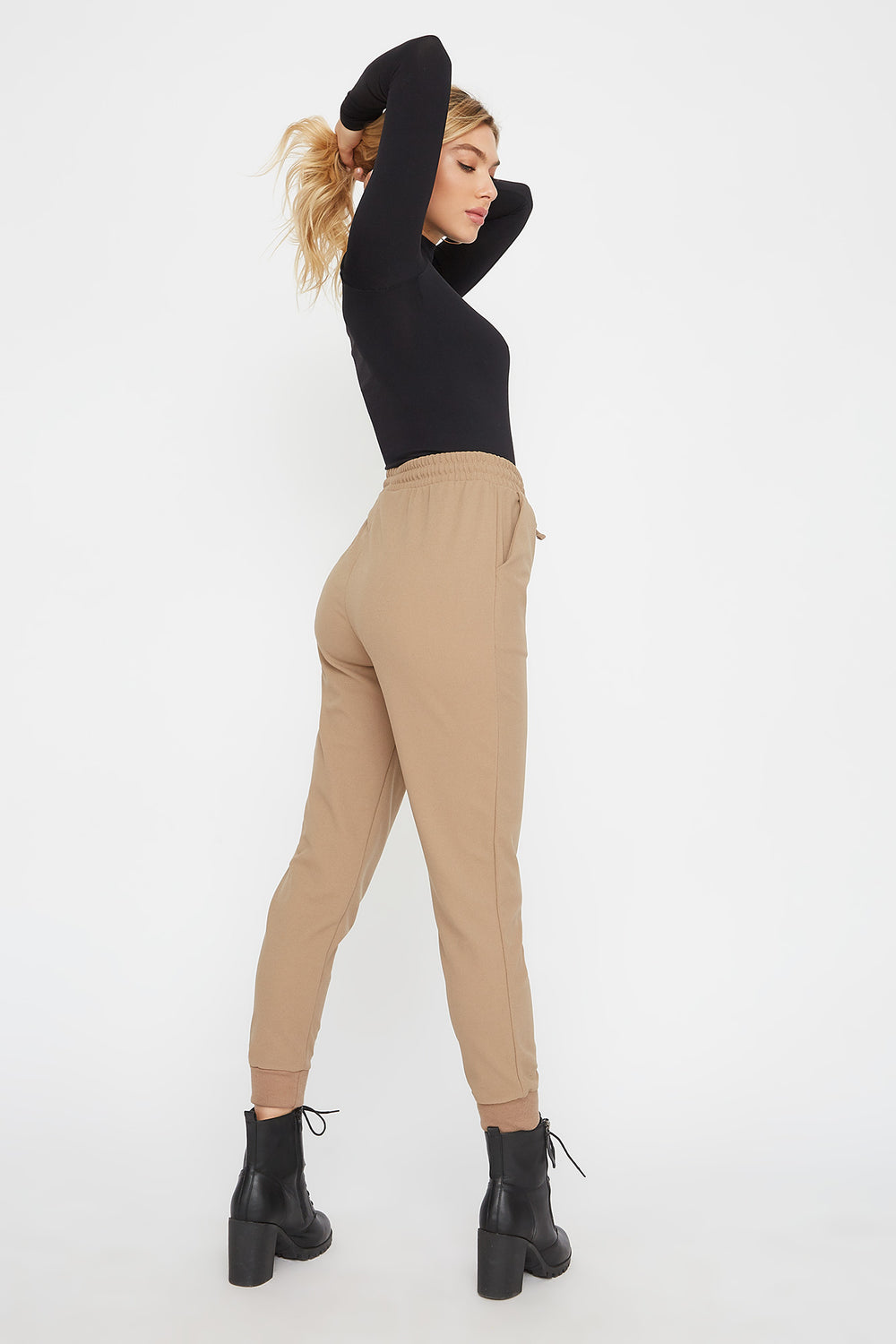 Crepe Jogger Taupe