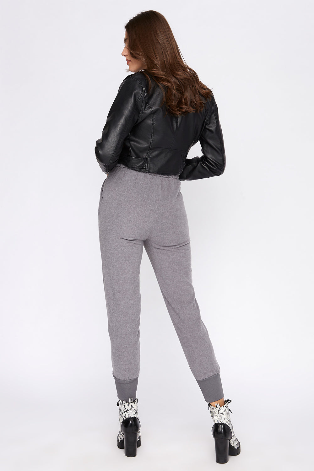 Soft Fleece Pull-On Jogger Heather Grey