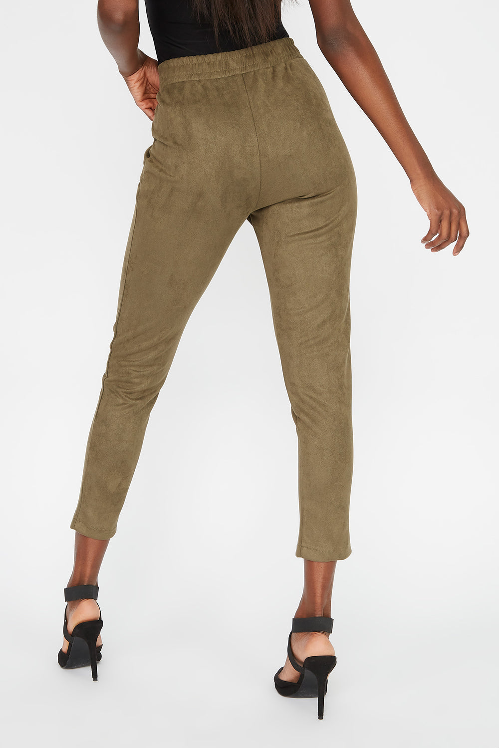 Faux-Suede Pant Dark Green