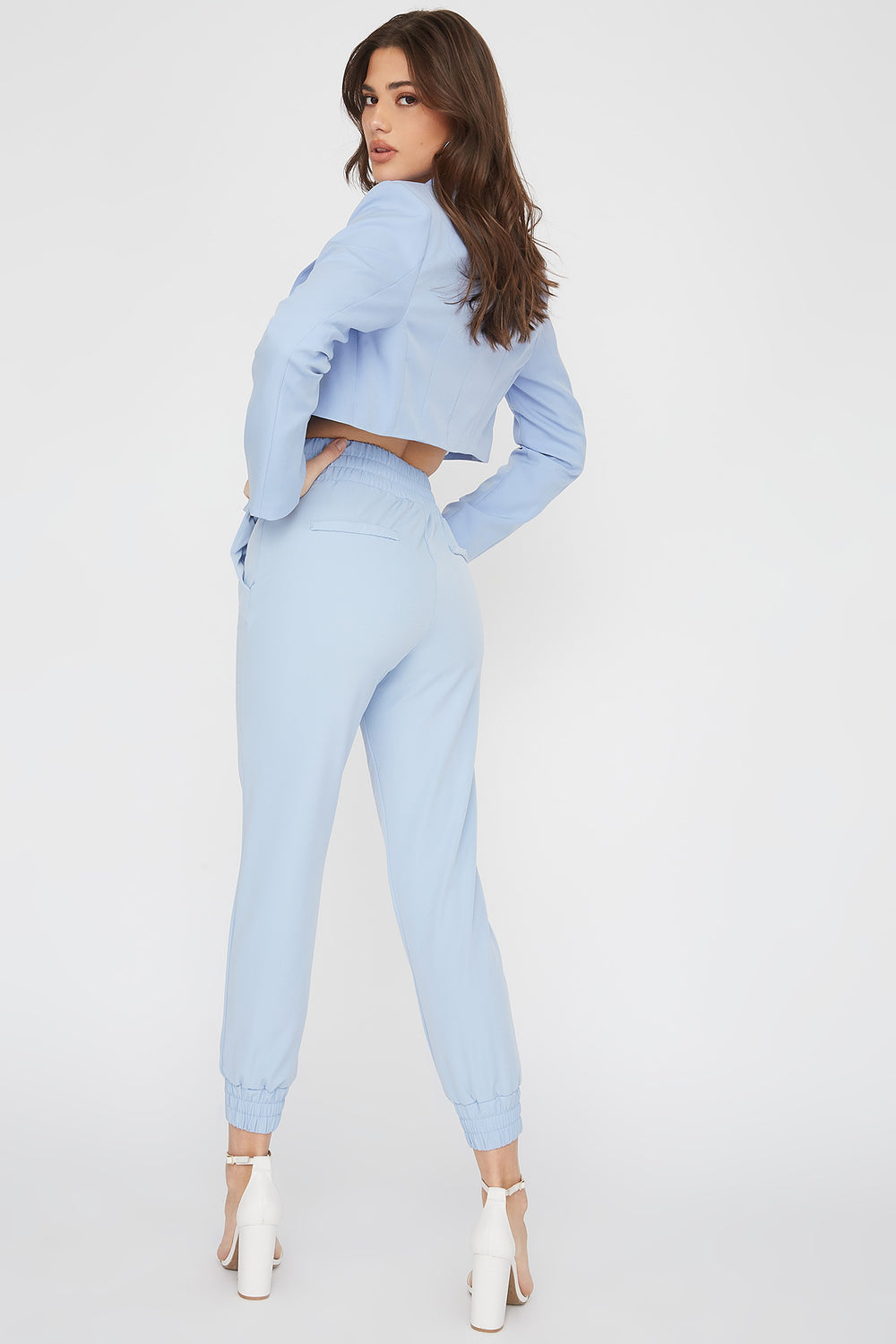 Pull-On Drawstring Jogger Light Blue