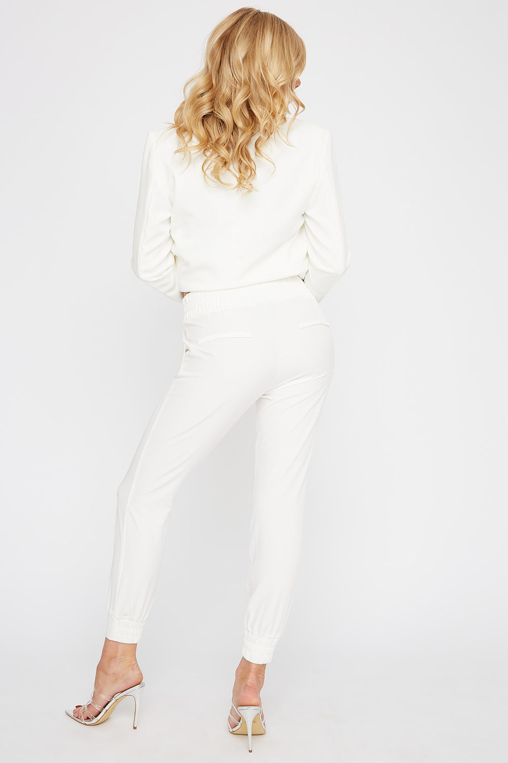 Pull-On Drawstring Jogger White