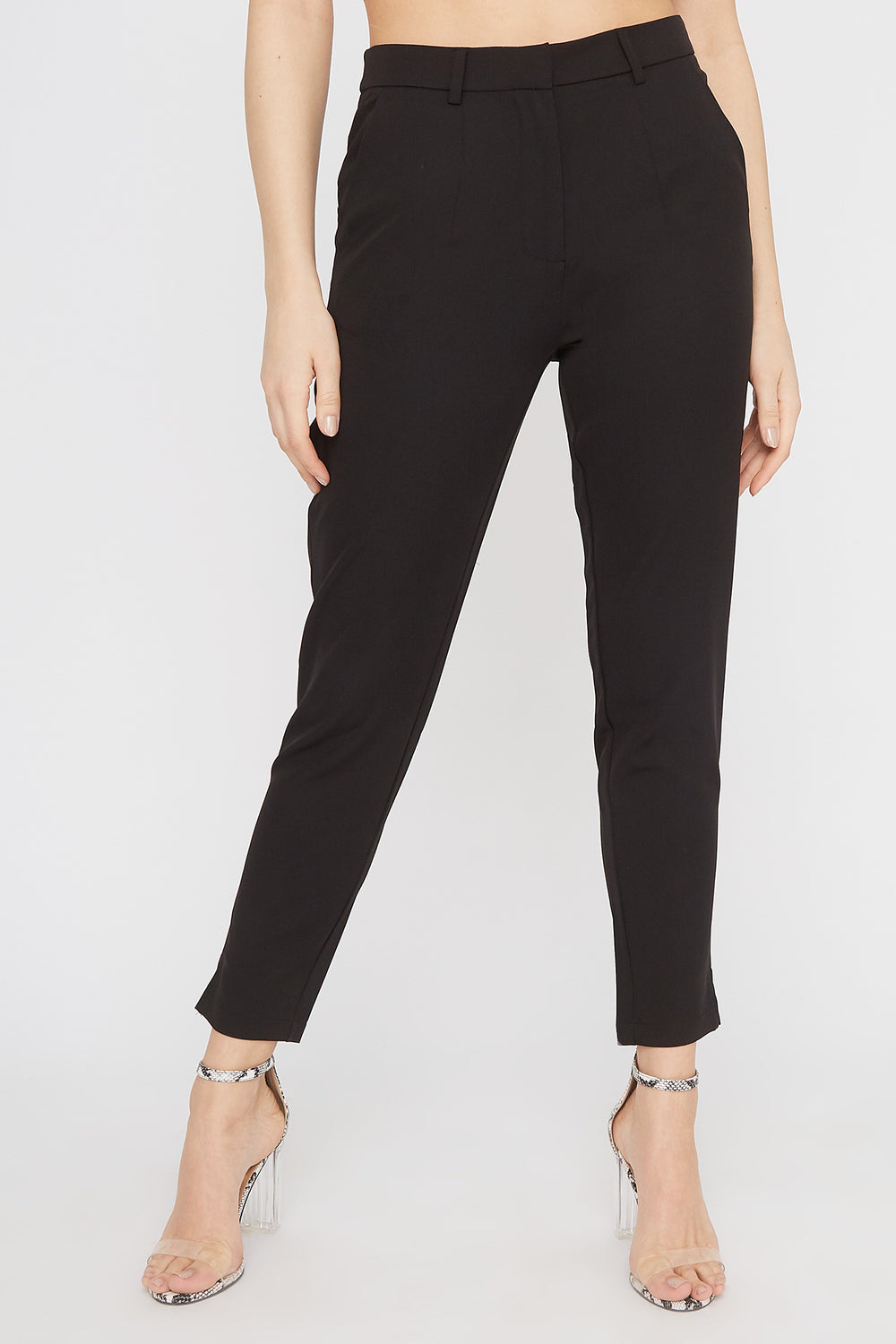 High-Rise Tapered Pant Black