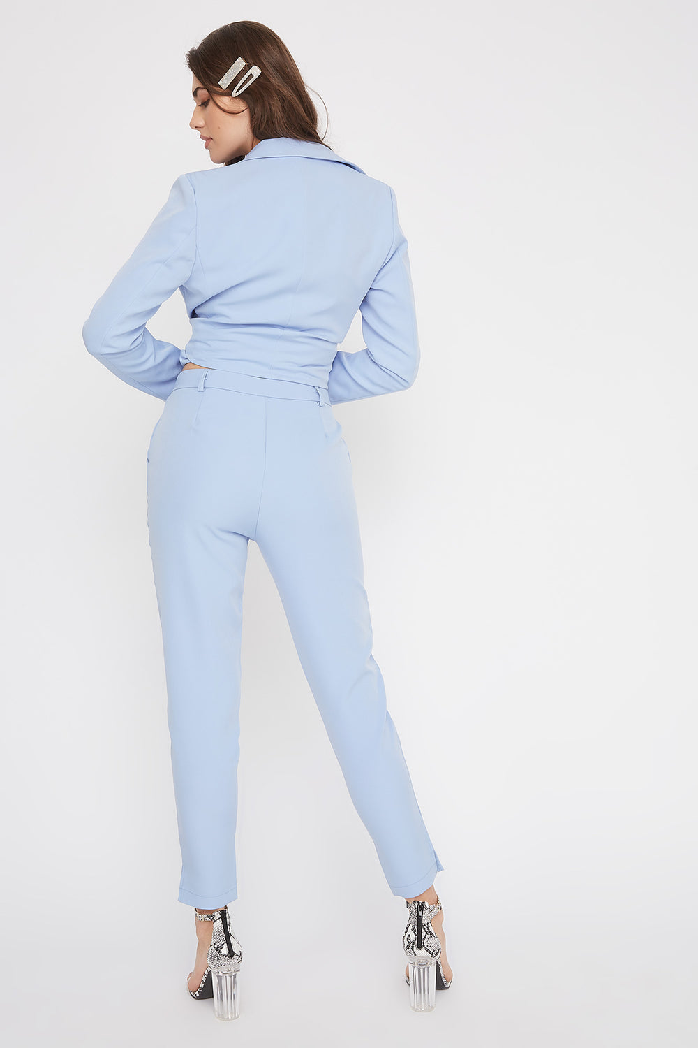 High-Rise Tapered Pant Light Blue