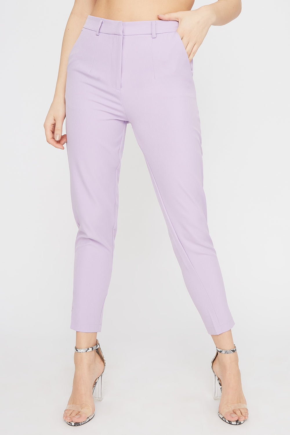 High-Rise Tapered Pant Lilac