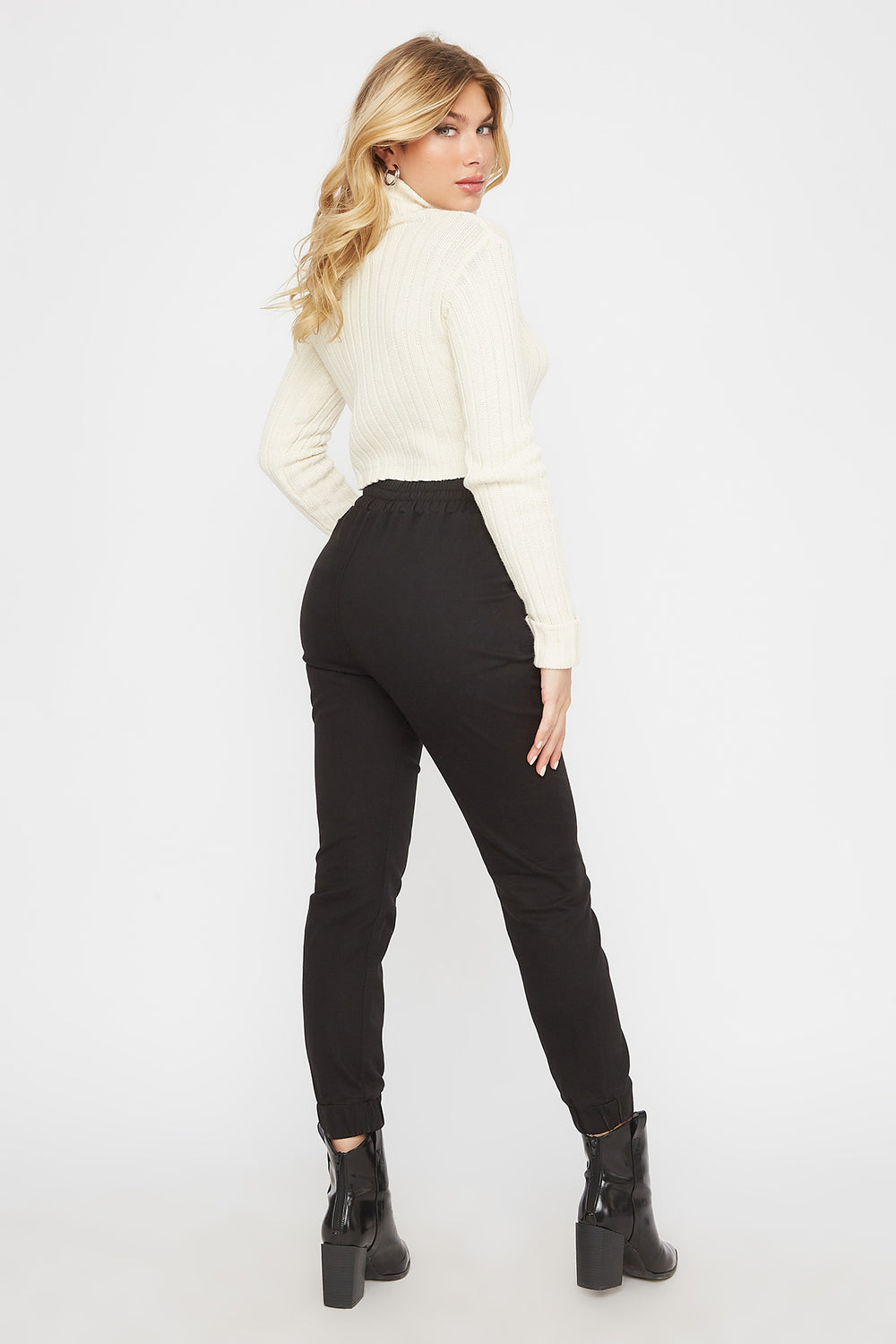 Basic Drawstring Jogger Black
