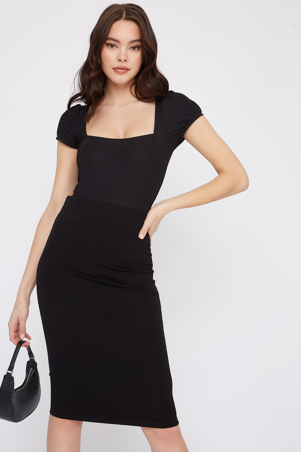 Bodycon Midi Skirt Black