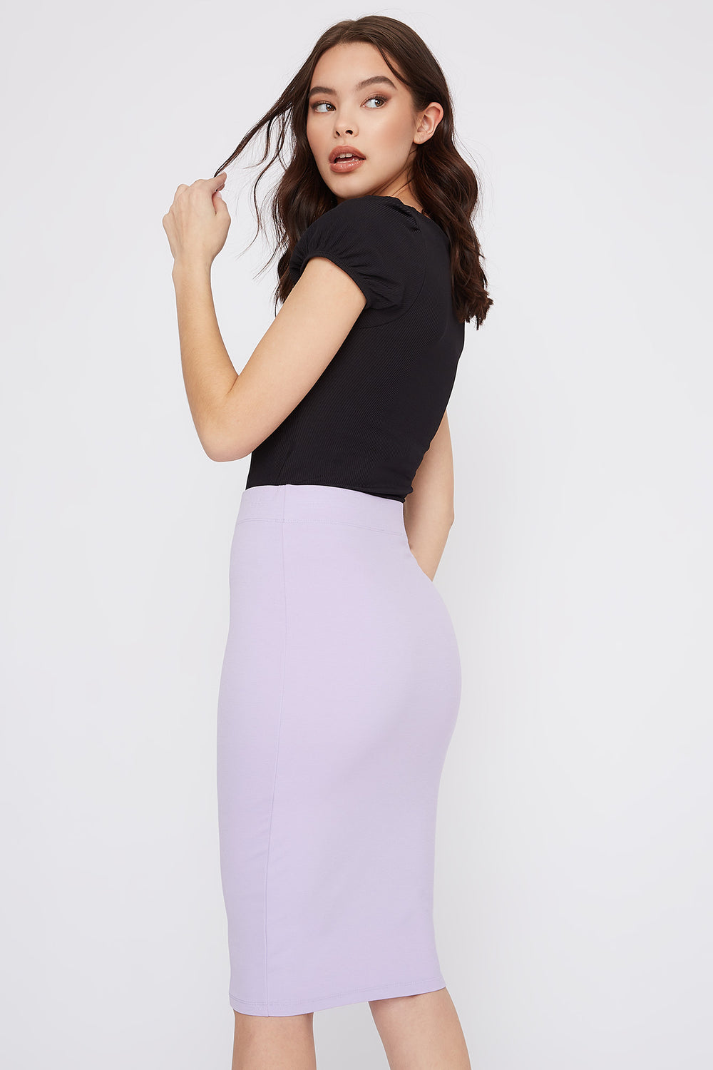 Bodycon Midi Skirt Lilac