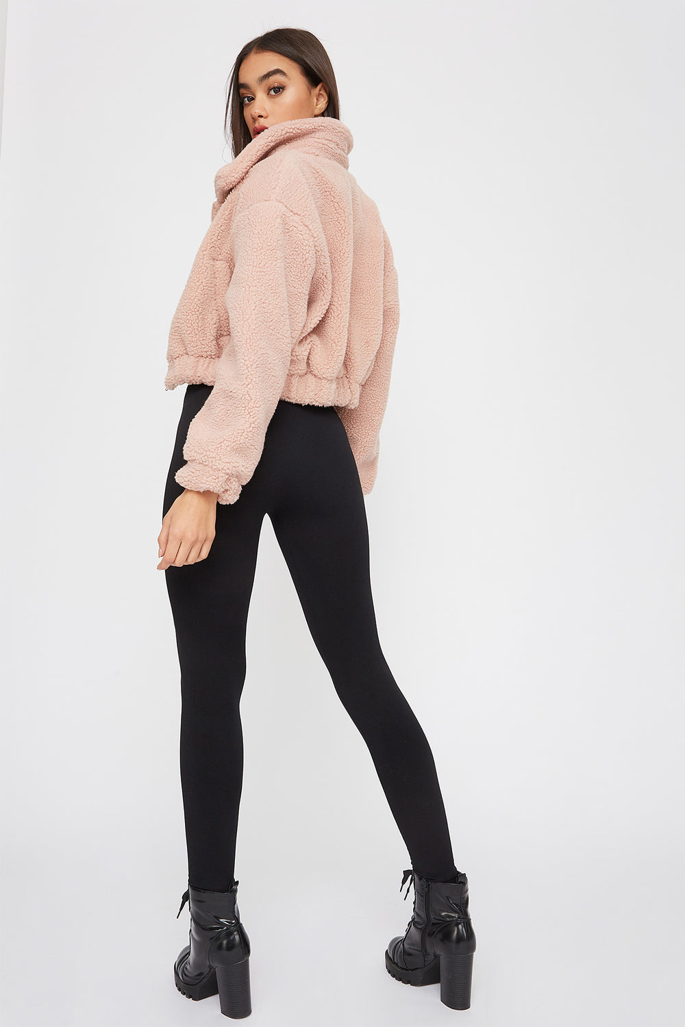 Fleece High-Rise Legging Black