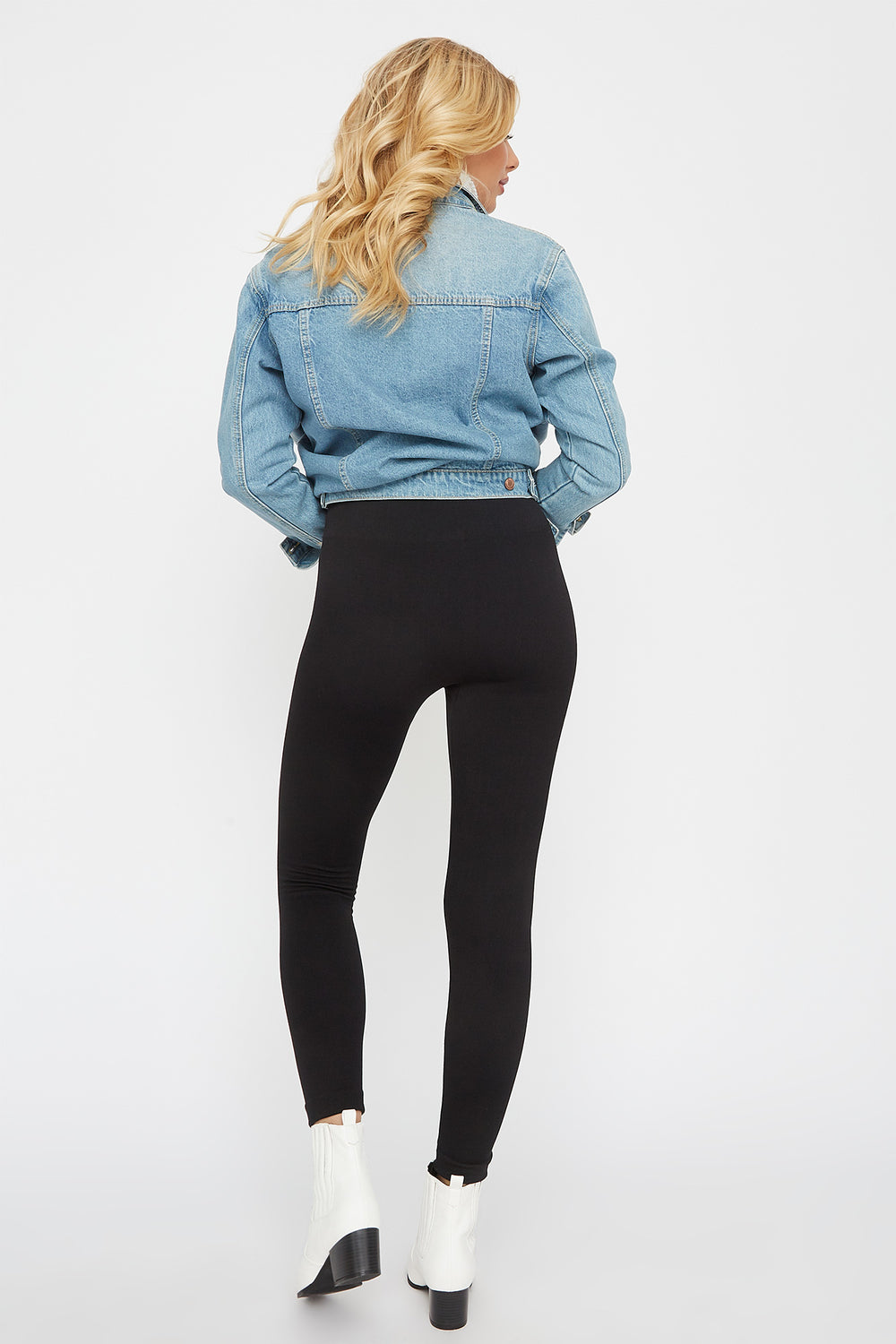 Faux-Fur Legging Black