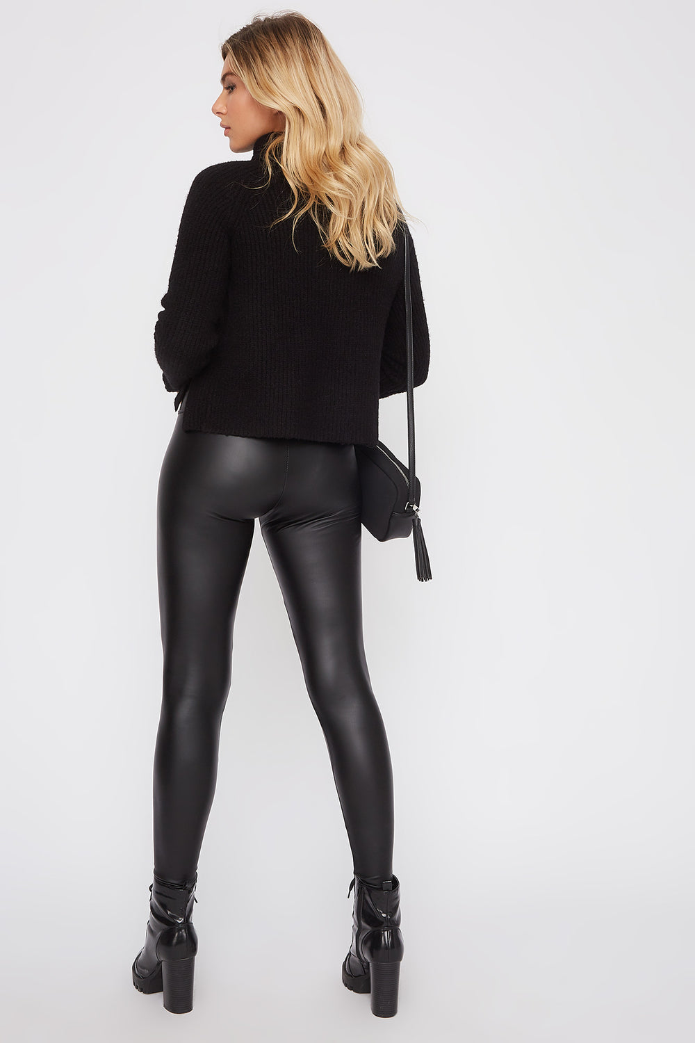 Matte Faux-Leather Legging Black