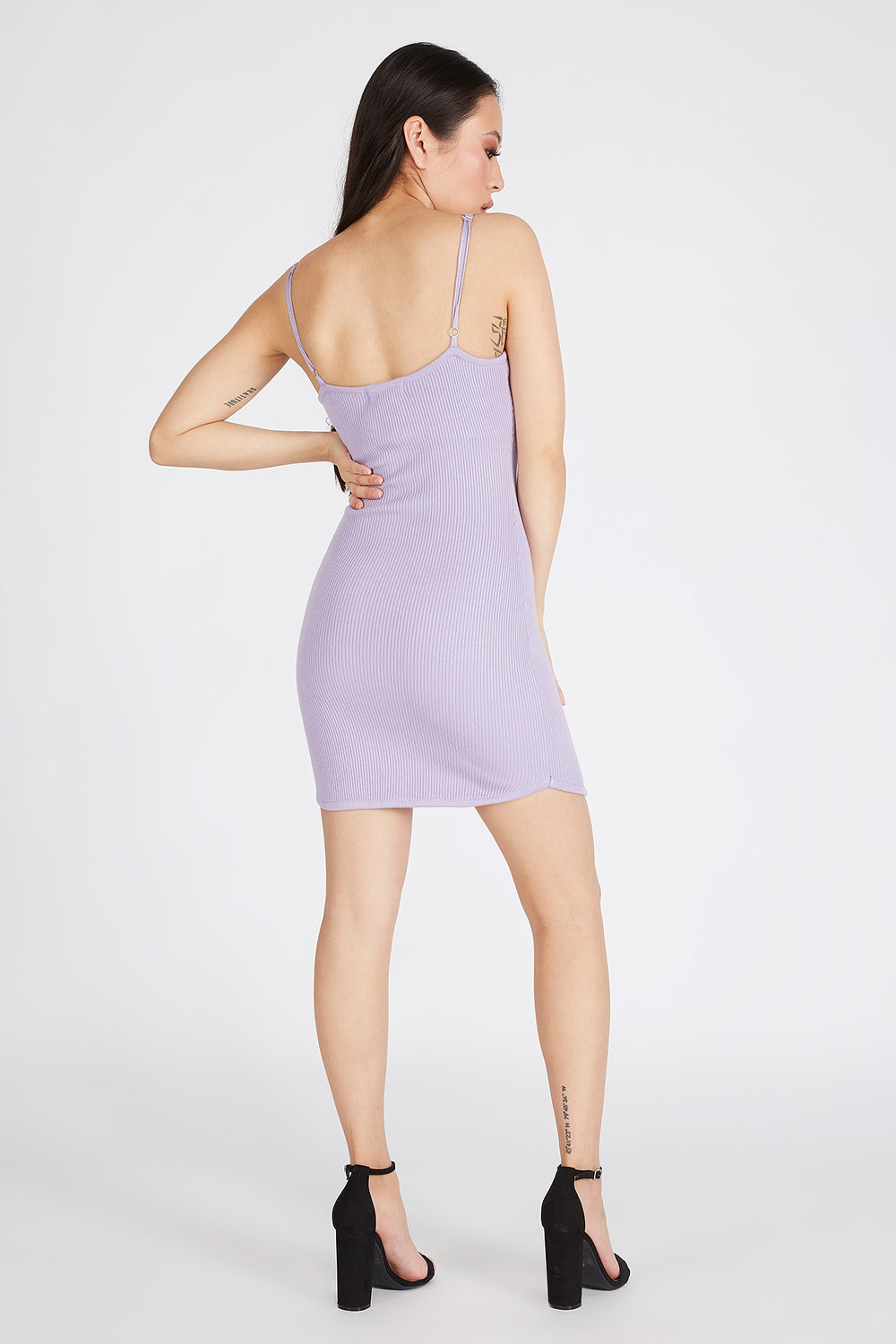 Knit Sleeveless Mini Dress Mauve