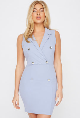 Sleeveless Blazer Mini Dress