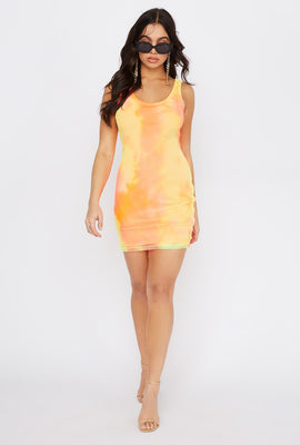 Ombre Net Mini Tank Dress