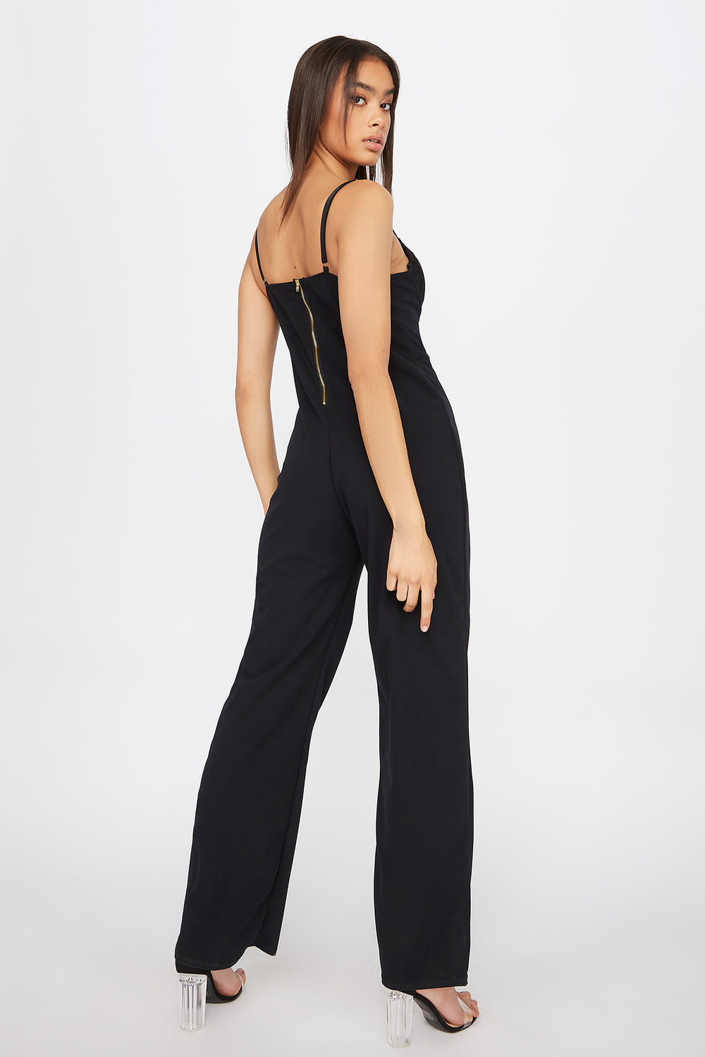 Bustier Lace Jumpsuit Black