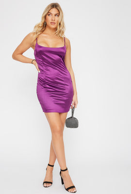 Satin Bodycon Mini Dress