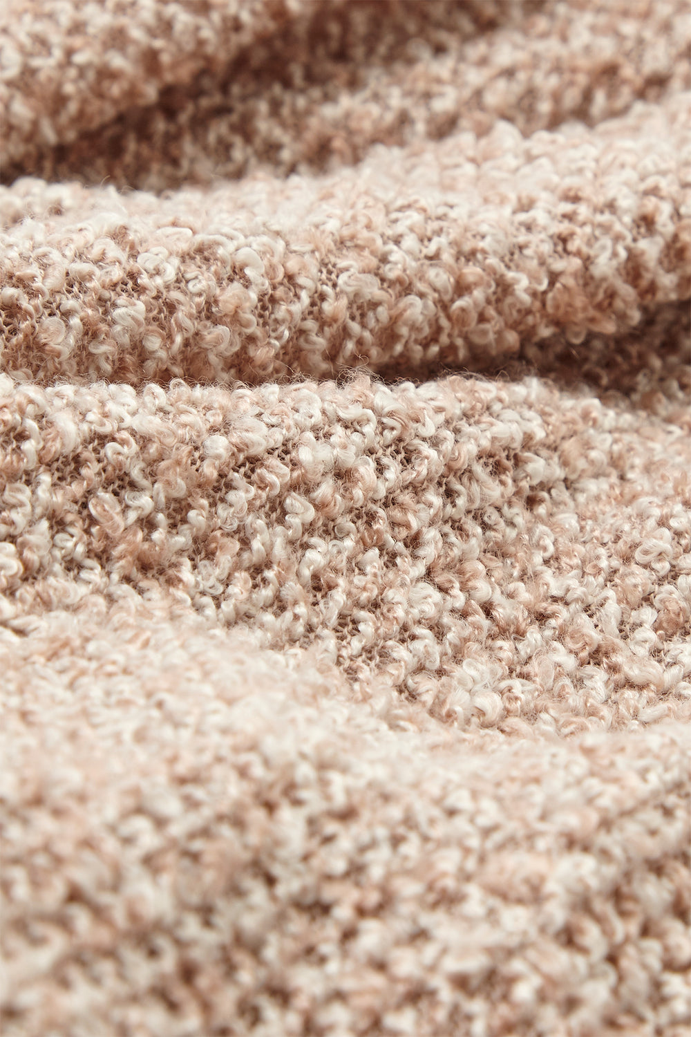 Textured Knit Cowl Neck Cropped Sweater Taupe