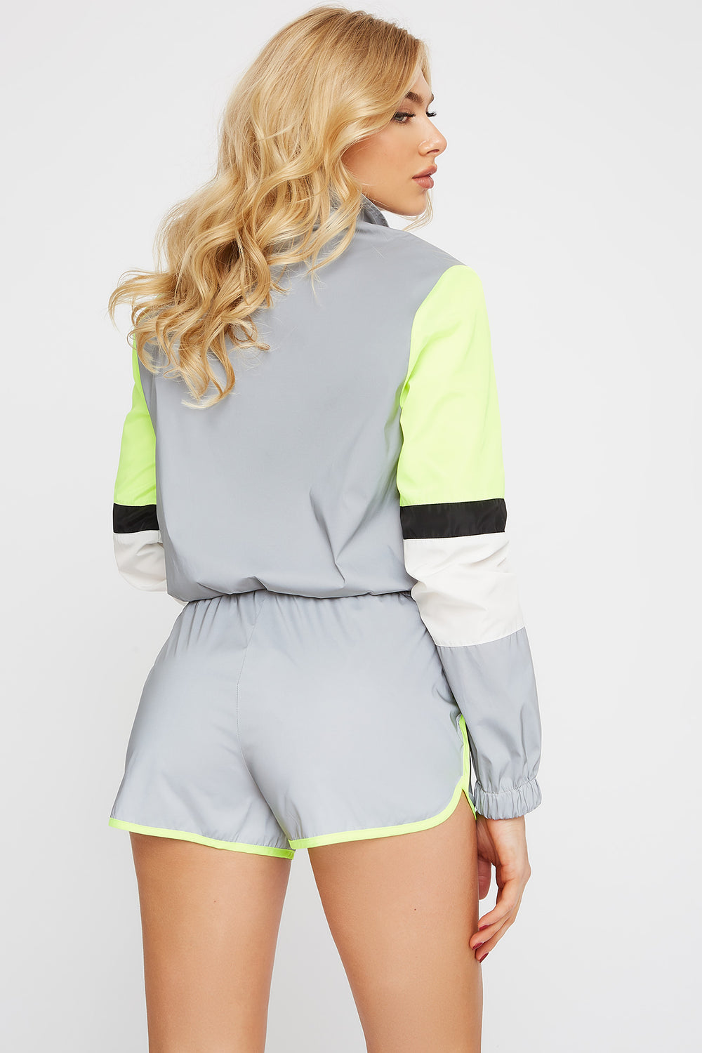 Reflective Windbreaker Short Heather Grey