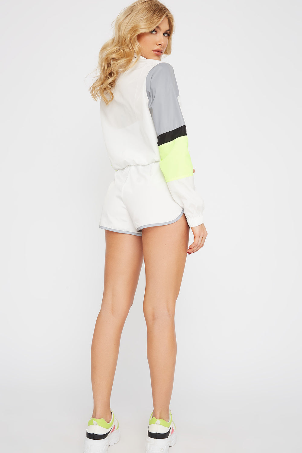 Reflective Windbreaker Short White