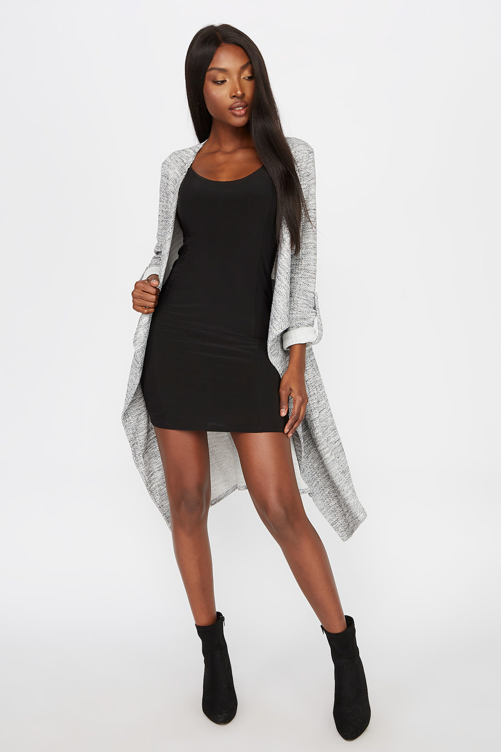 Heather Grey Waterfall Jacket Heather Grey