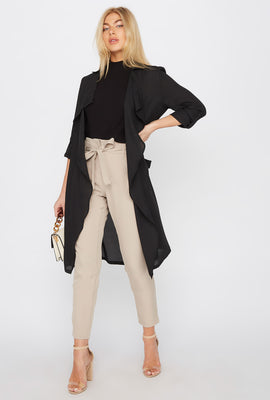 Chiffon Waterfall Trench Jacket