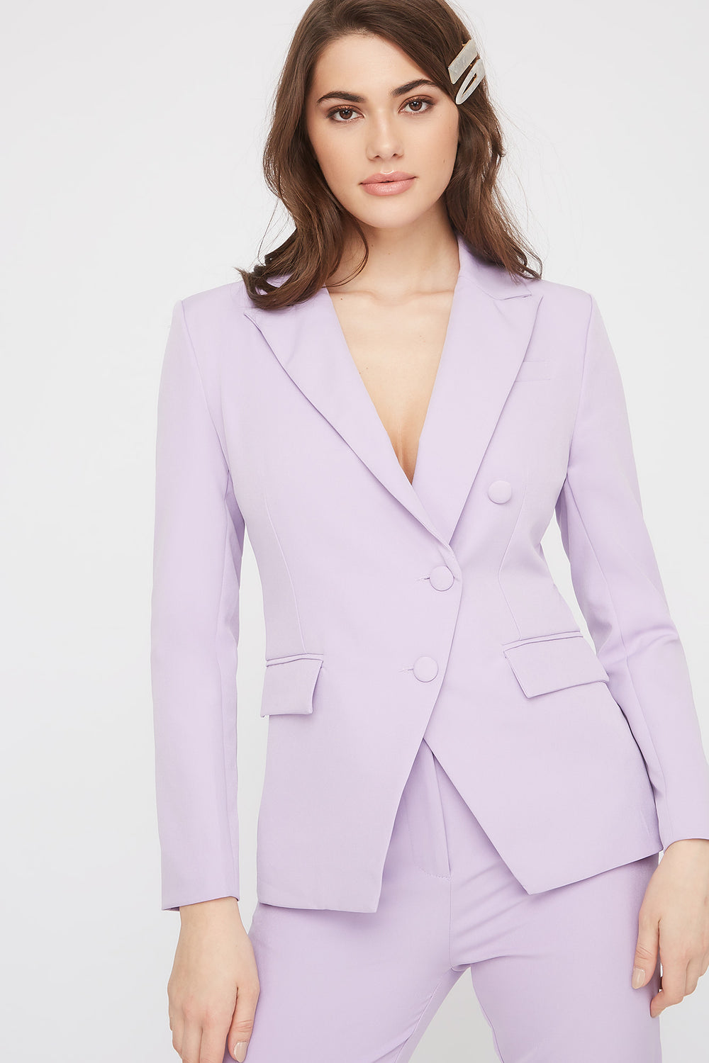 3-Button Single Breasted Blazer Lilac