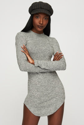 Mock-Neck Long Sleeve Bodycon Mini Dress