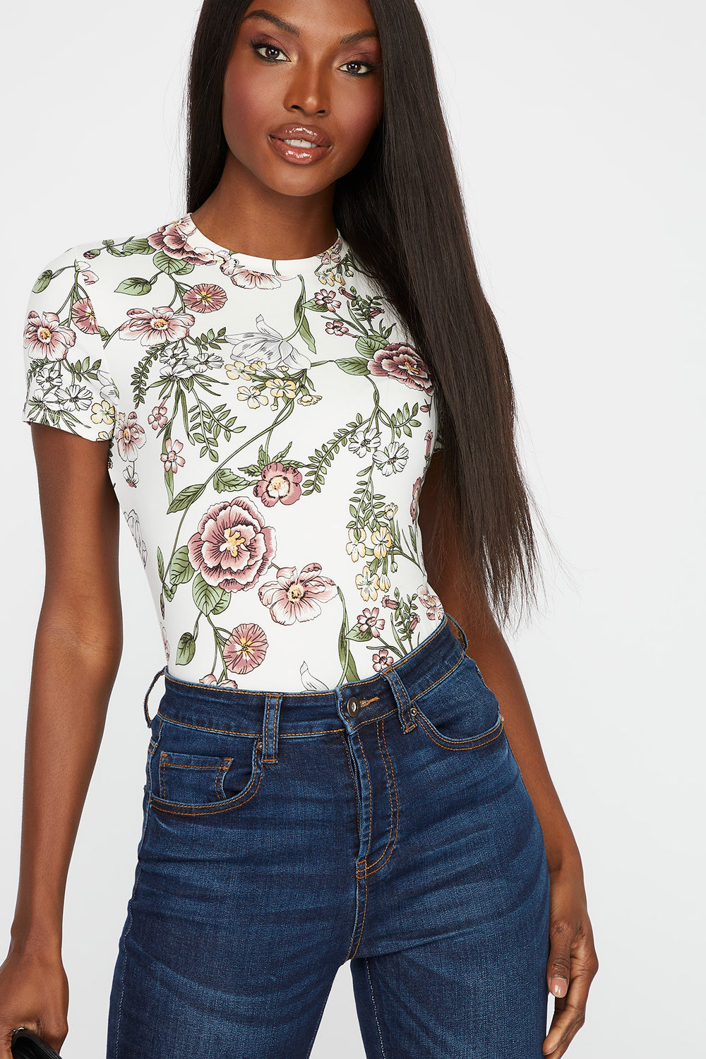 Floral Soft T-Shirt White