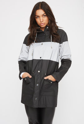 Longline Reflective Windbreaker Jacket