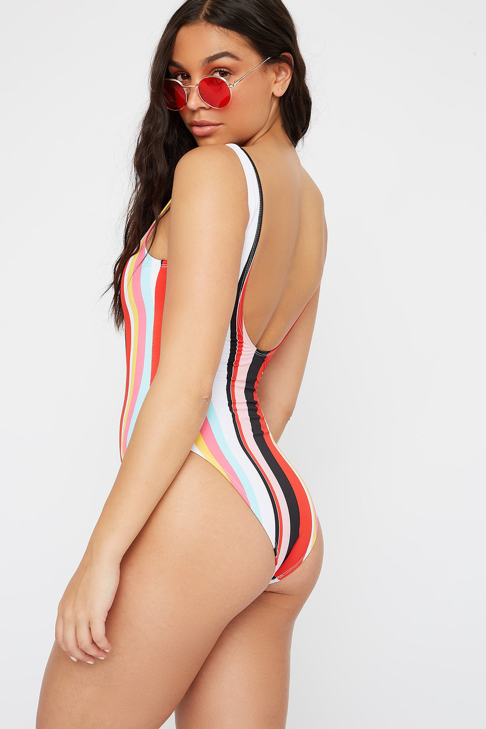 Scoop Back One Piece Swimsuit Assorted