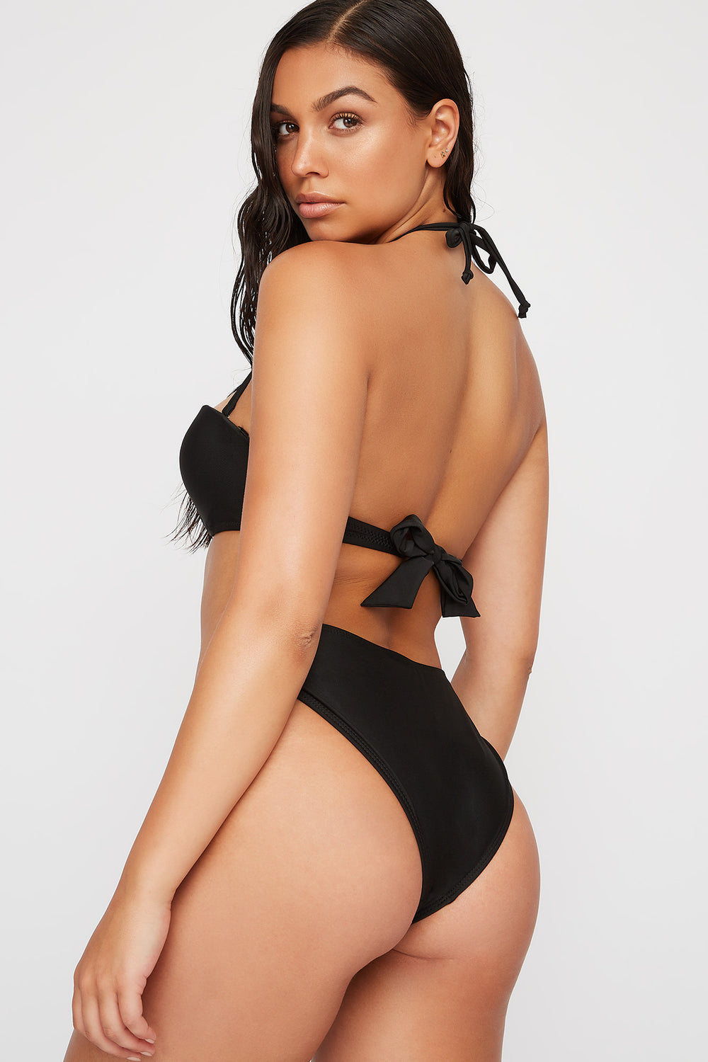 Loop Side Bikini Bottom Black