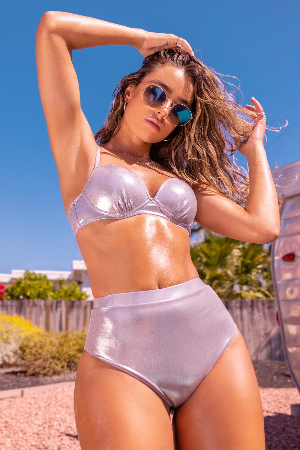 Sommer Ray Ultra High-Rise Bikini Bottom Silver
