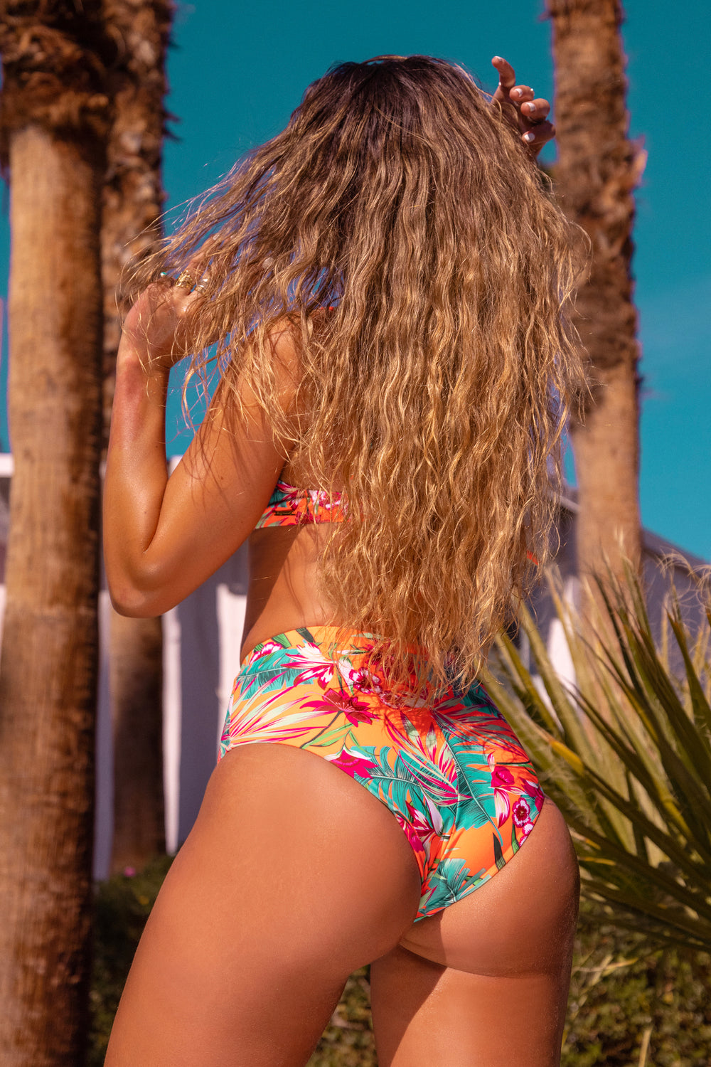 Sommer Ray Ultra High-Rise Bikini Bottom Coral