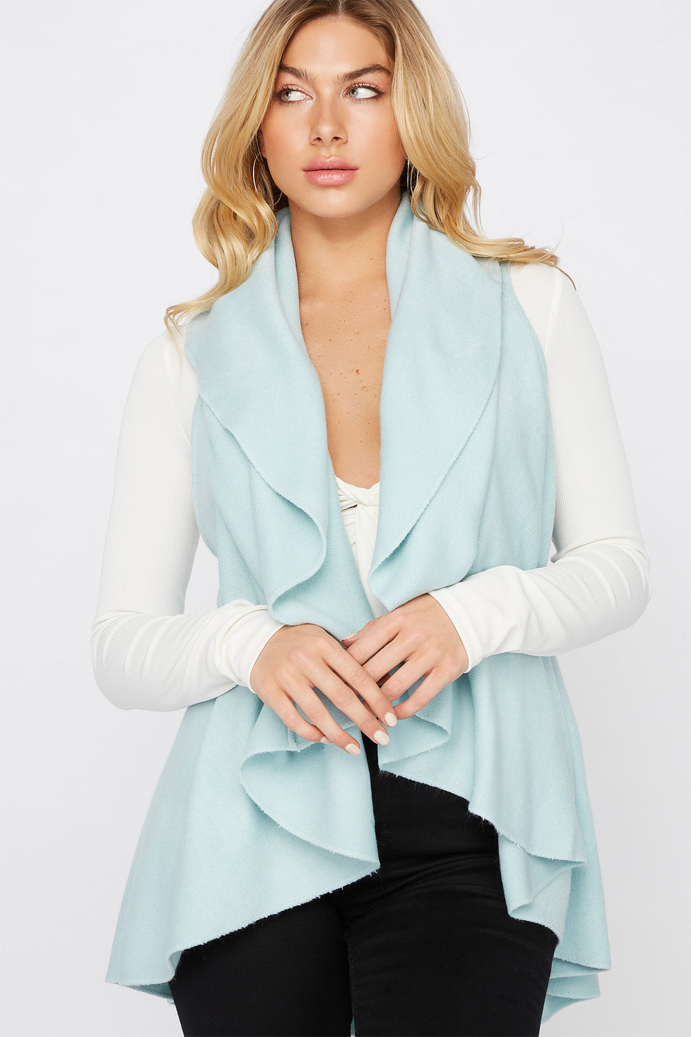 Multi Way Scarf Vest Baby Blue