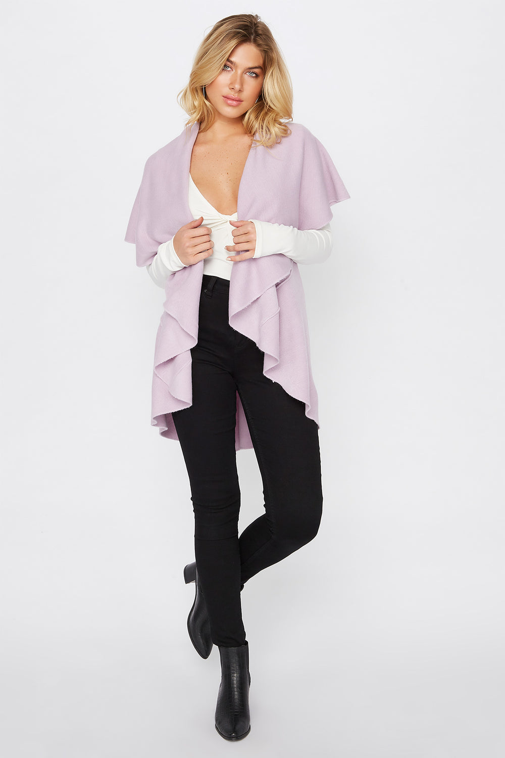 Multi Way Scarf Vest Lilac