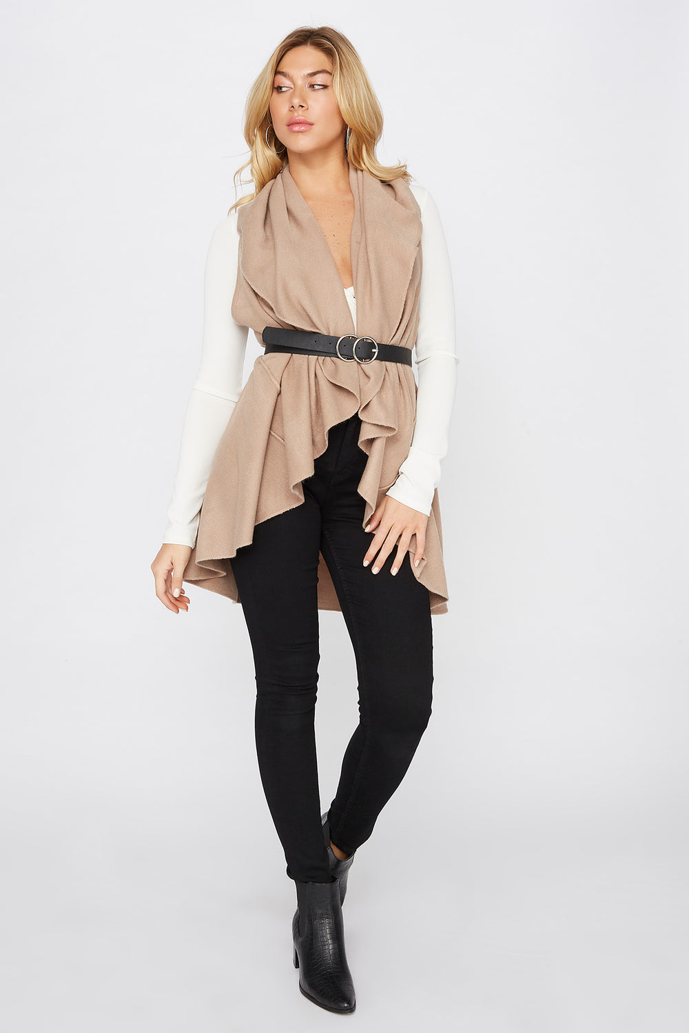 Multi Way Scarf Vest Taupe