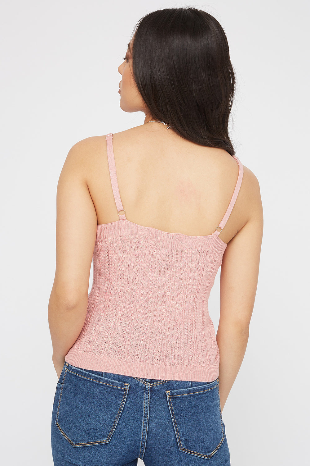 Knit Scoop Neck Cami Pink