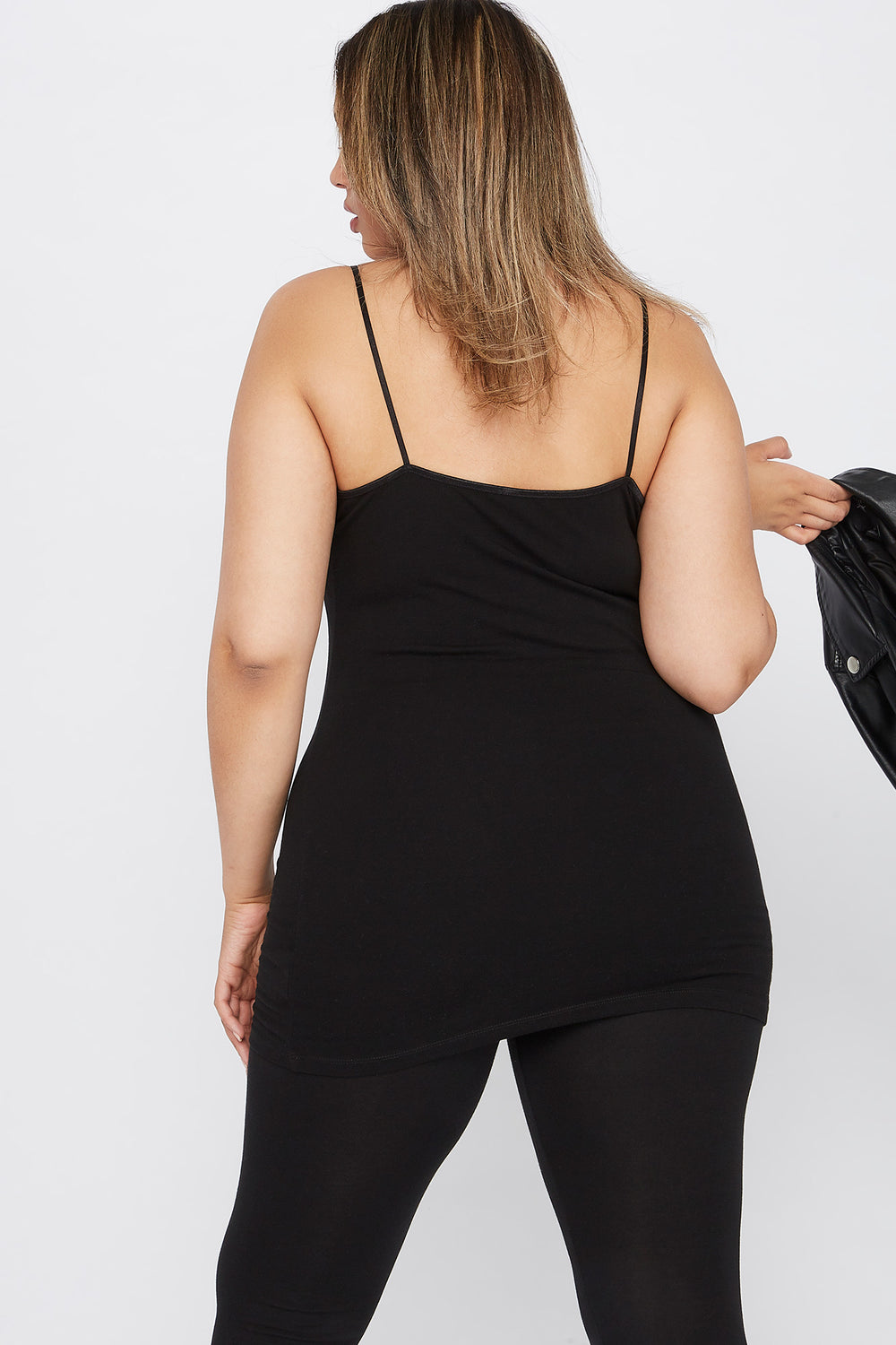 Plus Size Basic Solid Cami Black