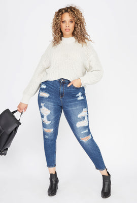 Plus Size Distressed Skinny Jean