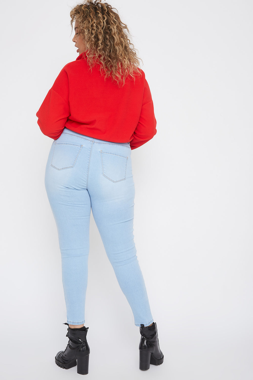 Plus Size High-Rise Skinny Jean Sky Blue