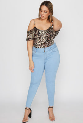 Plus Size Butt, I Love You 3-Tier High-Rise Push-Up Skinny Jean