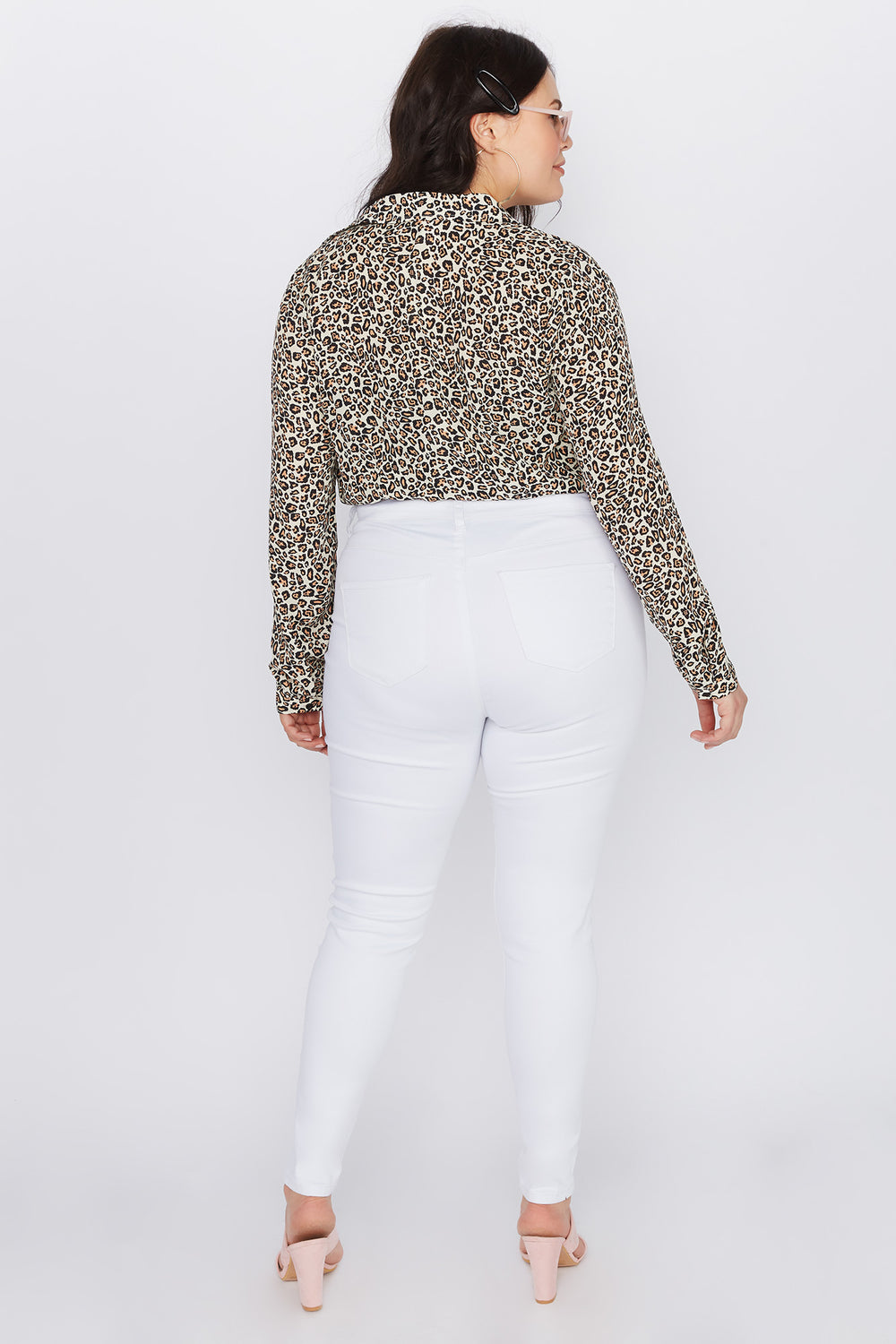 Plus Size High-Rise Skinny Jean White