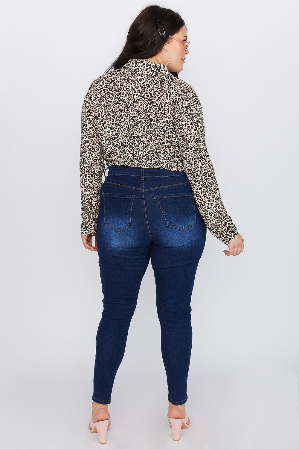 Plus Size High-Rise Skinny Jean Dark Blue