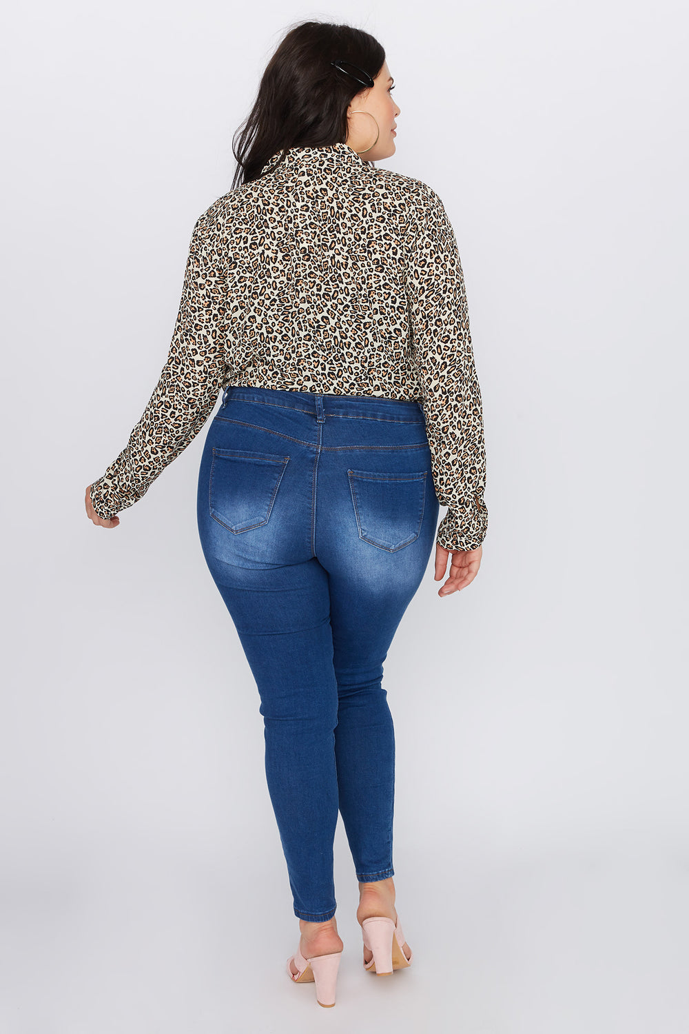 Plus Size High-Rise Skinny Jean Medium Blue