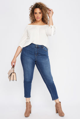 Plus Size High-Rise Straight Jean