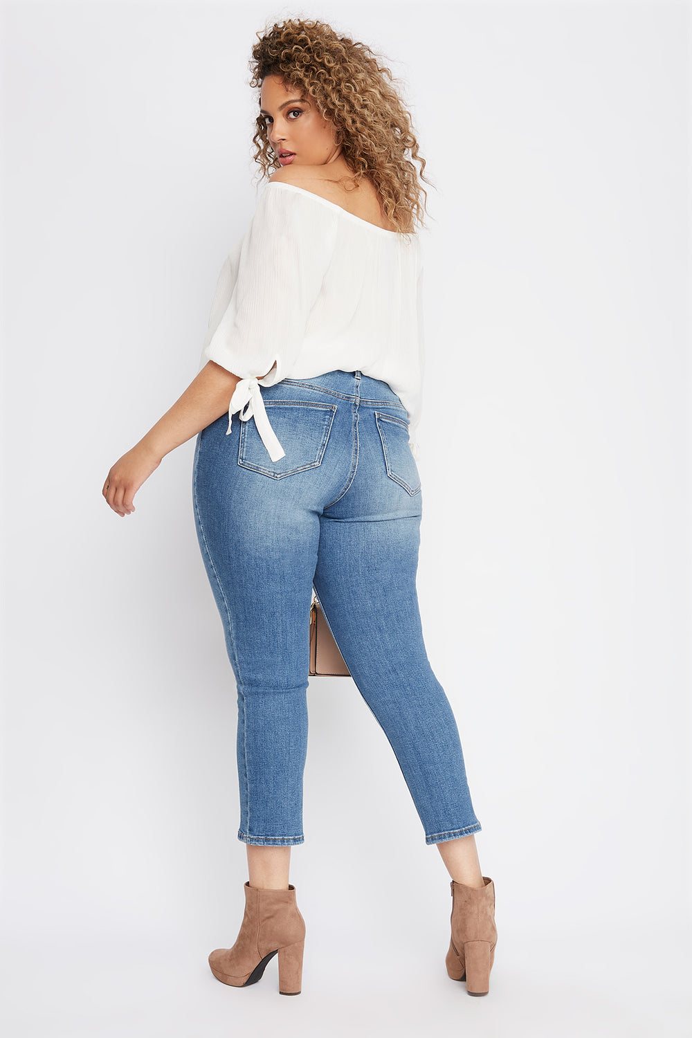 Plus Size High-Rise Straight Jean Medium Blue