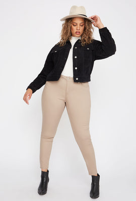 Plus Size Butt, I Love You Twill Stretch Push-Up Skinny Jean