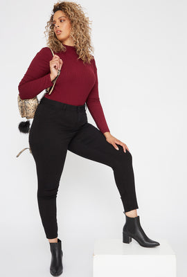 Refuge Plus Size High-Rise Black Jegging