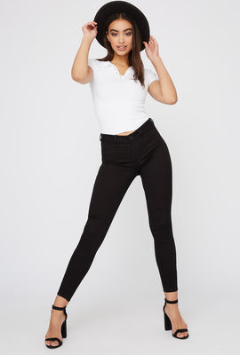 Refuge High-Rise Black Skinny Jean