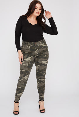 Refuge Plus Size Camo High-Rise Jegging