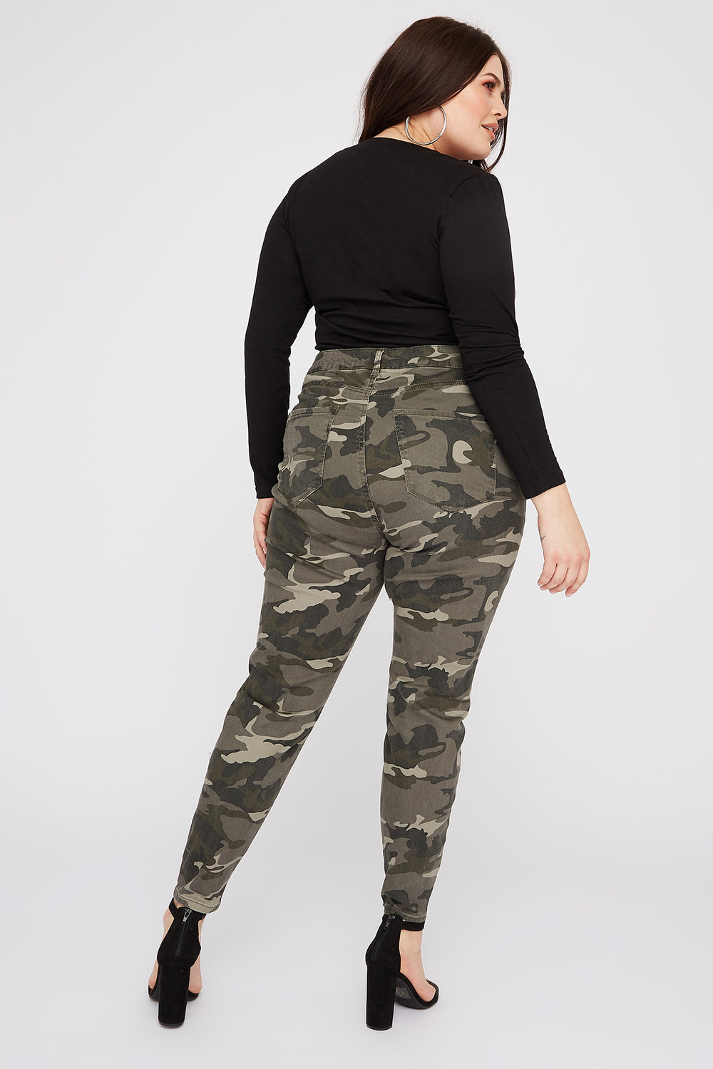 Women Refuge Plus Size Camo High-Rise Jegging Camouflage